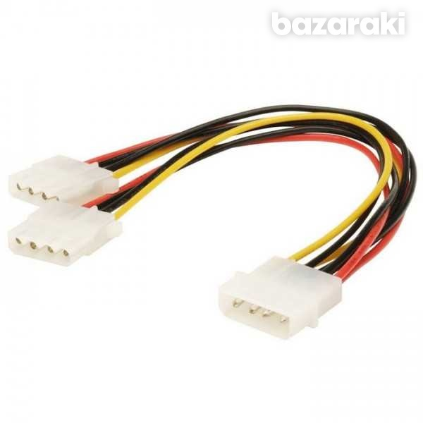 Molex to 2 x molex power splitter cable-2