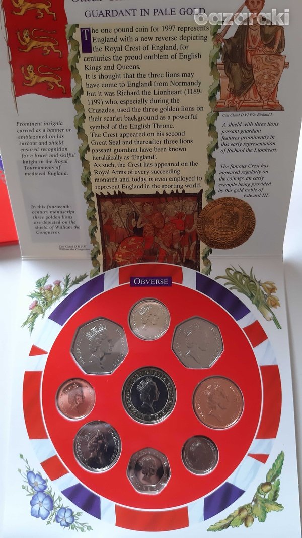 Uk 1997 uncirculated coin set in blister-4