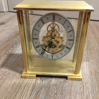 Gold stainless steel clock