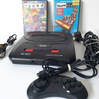 Sega megadrive 2 with 2 games and controller