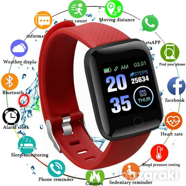 D13 smart watch men women for android ios phone heart rate blood press-4