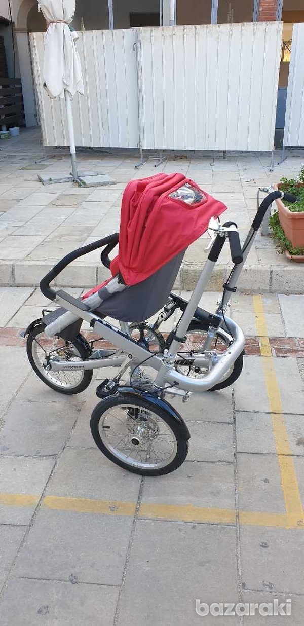 Bicycle and baby pram in one-1
