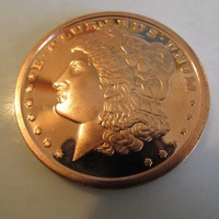 1 oz morgan .999 fine copper bullion art round