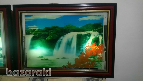 Picture frame with light up, movement, sound of nature up-1