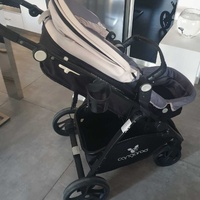 Baby's car seat, carry holder and stroller all in 1set