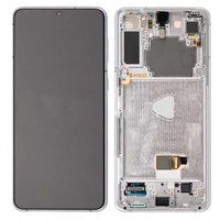 Lcd-complete-frame-samsung-s21-plus-g996-silver-original