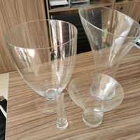 Glass vases 4 pcs set
