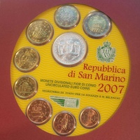 San marino 2007 blister set with token