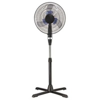 Stand fan with double blue blade