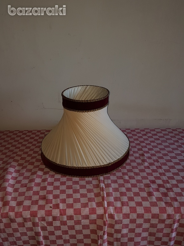 Lamp cover with satin details - 1960 - vintage lamp shade wit-1