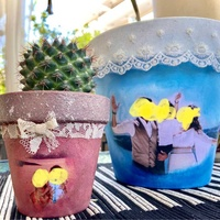 Personalized pot. choose your size and send me photo on email