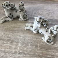 Lovely dog family miniatures x 2 in great condition like new