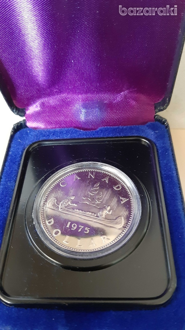Canada 1975 dollar in case - look at the pictures-1