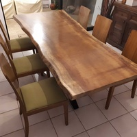 Natural african iroko dining table