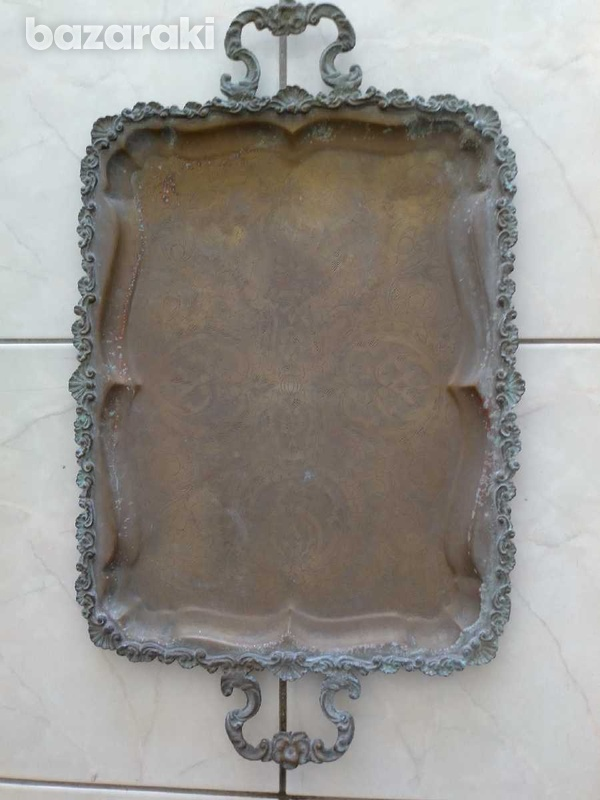 Tray antique from the year 1900.δισκος αντίκα από το έτος 1900.-7