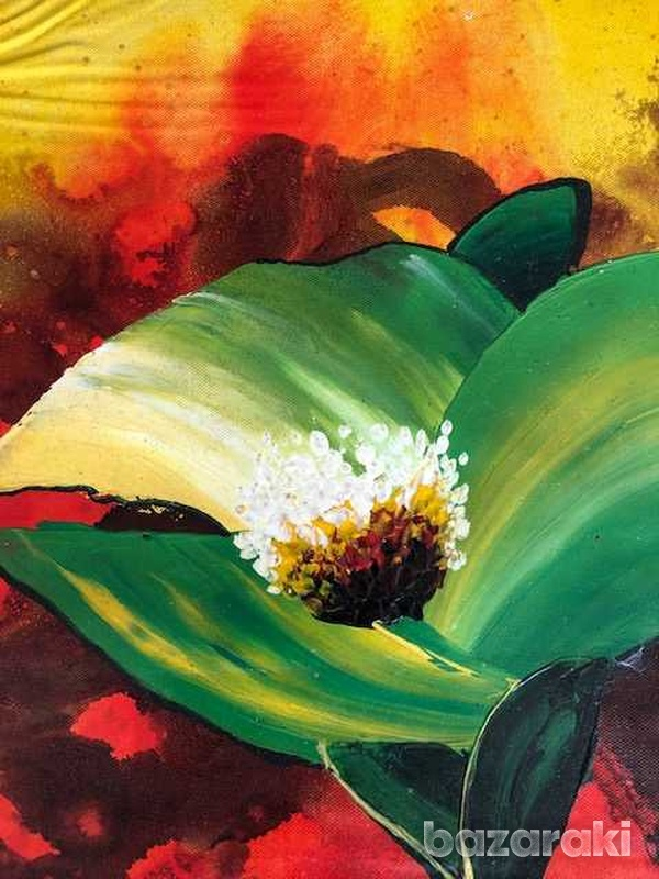Floral painting oil on canvas-2