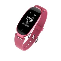 Beautiful design bluetooth s3 sports bracelet women wristband with hea