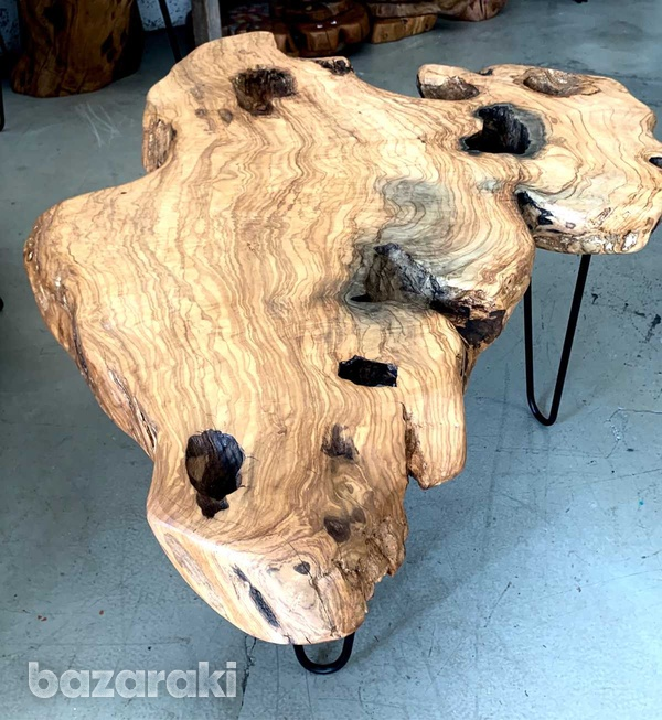Olive wood coffee tables