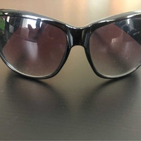 Ladies black and green sunglasses