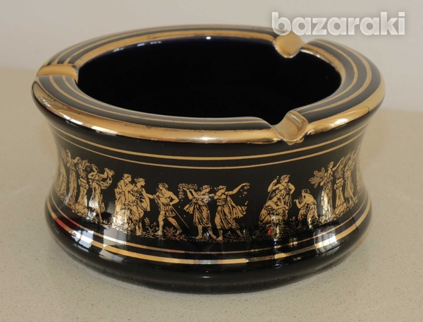Various vintage collectibles - black with 24k gold - made in greece-2