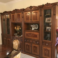 Large display cabinet mahogany with lovely detail work from 80s