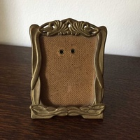Antique brass photo frame 11cm height