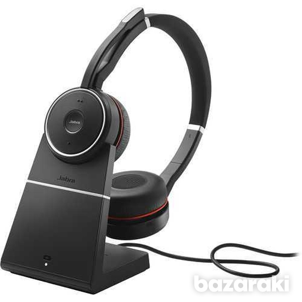 Jabra evolve 75 ms link 370 incl. headset charging stand - stock-1