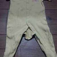 Mothercare baby sleepsuit yellow 6-9 months