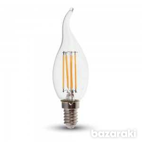 New 4w candle flame filament bulb-clear cover with samsung chip