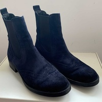 Tt bagat navy blue ankle boots, suede 41 size