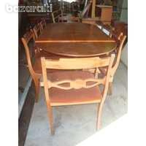 Dining table with eight upholstered match-1