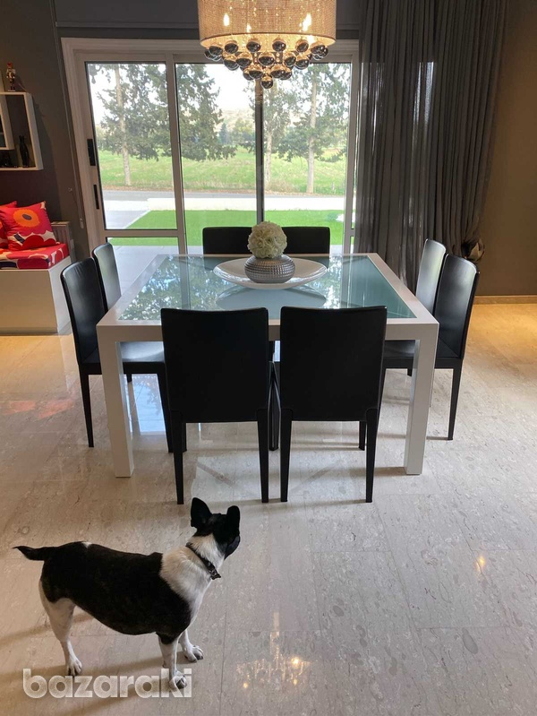 Square dining table with chairs-4