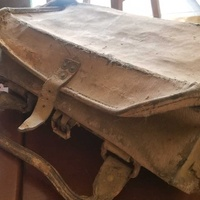 Old leather tool bag