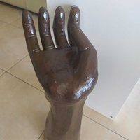 African wood hand carved sculpture 50x27cm
