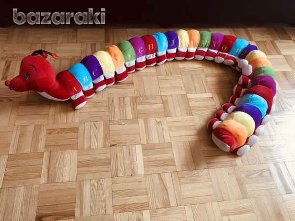 Soft toy caterpillar with abc sewn on each section-1
