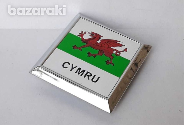 Vintage collectible classic cars badge cymru wales new never used-1