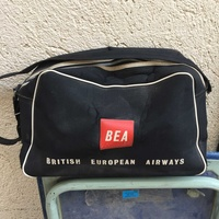 Vintage british european airways travel shoulder bag