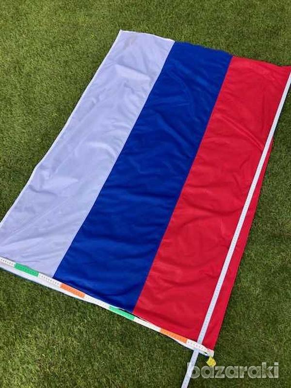 Huge russian/serbian flag 150x100 cm with a pole-1