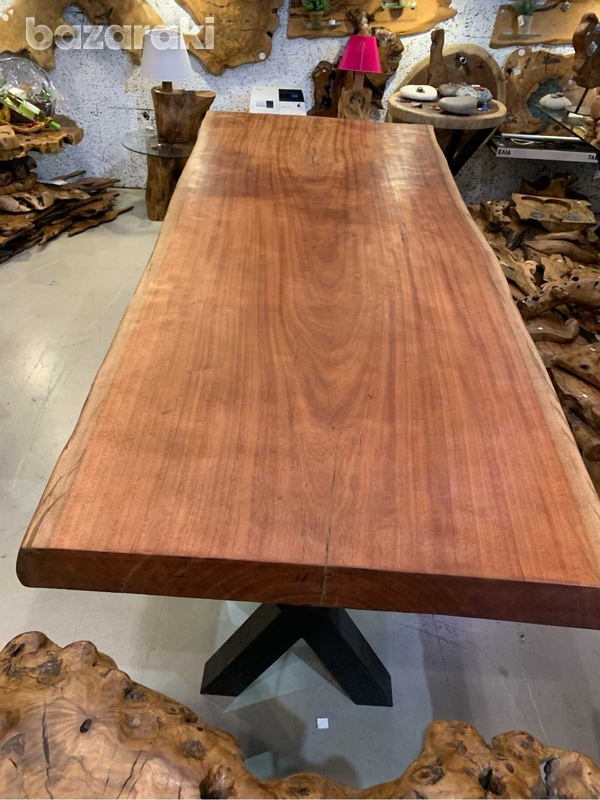 Natural wood dinning table