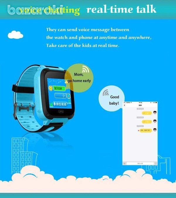 Children safe smart watch 2gtouch screen location tracker with came-5