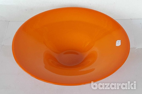 Vintage art glass bowl 23.5x8cm in very good condition for decor-5