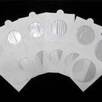 Set of 50 coin holders self-adhesive various sizes
