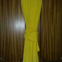 Yellow dress with belt - small