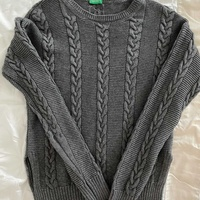 Benetton sweater grey, xs-s