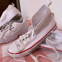 Fila shoes and white&red sneakers