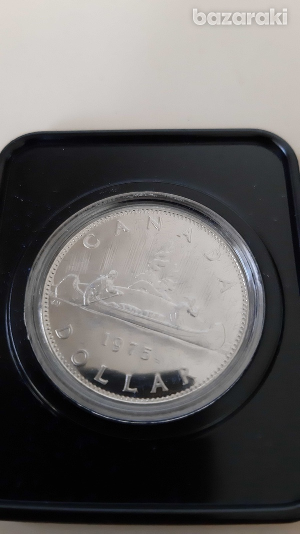 Canada 1975 dollar in case - look at the pictures-3