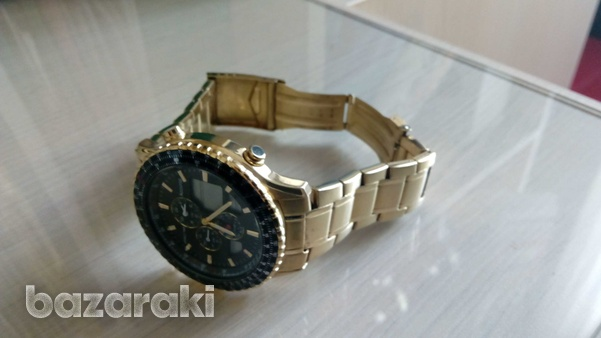 Accurist mb1030b wrist watch gold colour digital and analog-5