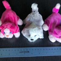 Set of three battery operated small dogs