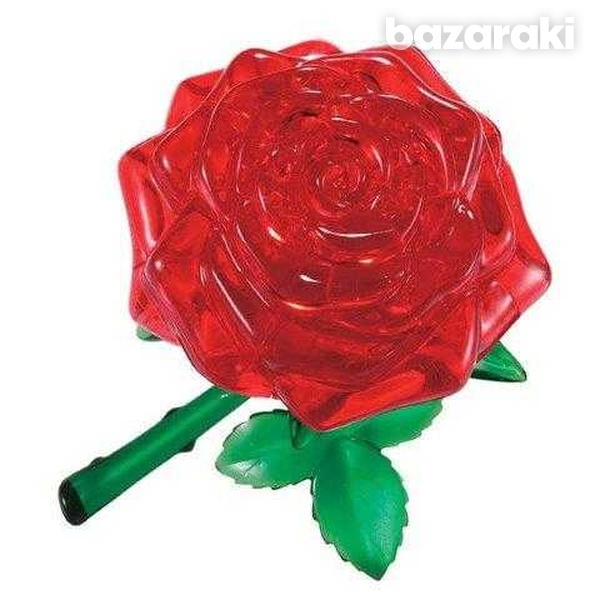 3d rose crystal puzzle-3
