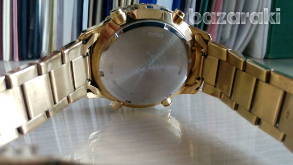 Accurist mb1030b wrist watch gold colour digital and analog-6